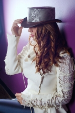 Parlor-brown-steampunk-leather-top-hat-model