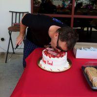 Garth eats cake
