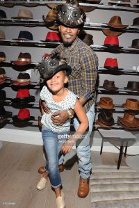 Jamie Fox with Daughter Annalise Bishop wearing Wisdom hat by American Hat Makers