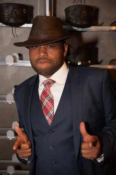 Anthony Anderson wearing an American Hat Makers Hat  (3)