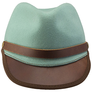 Take your liberty in this revolutionary design of a civil war era cap. Crafted by hand, this stylish lid brings a leather brim and hat band together with a crown of LiteFelt. This union creates an everyday and special event option for your head-topping needs.