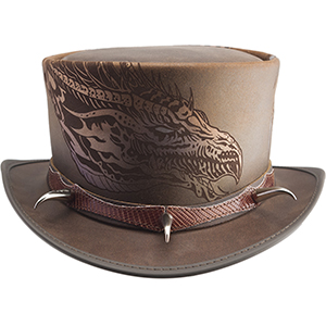 Be awed across the void in this new design by Fallen Owl Tattoo Studio owner and artist Adam Rose. This distinctive hat features an intricate laser engraved dragon on the 4 ½ inch crown highlighted by a claw band. When you want to intrigue them from a distance, throw the Claw on and see who is brave enough to get close.